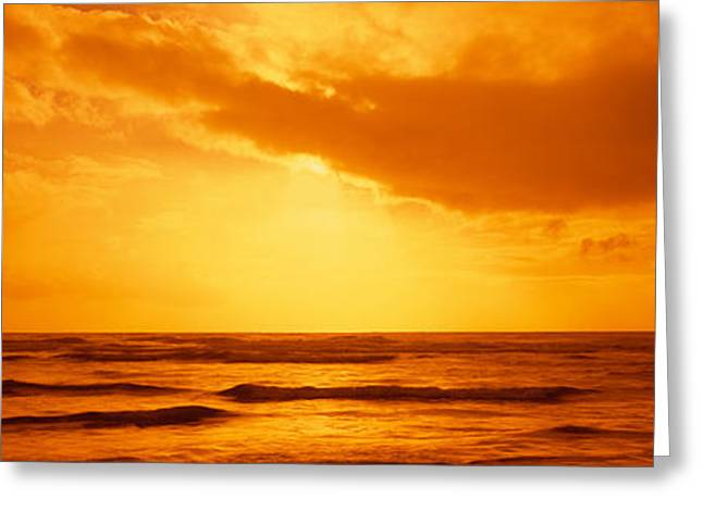Ocean Images Greeting Cards - Ocean At Dusk, Pacific Ocean Greeting Card by Panoramic Images