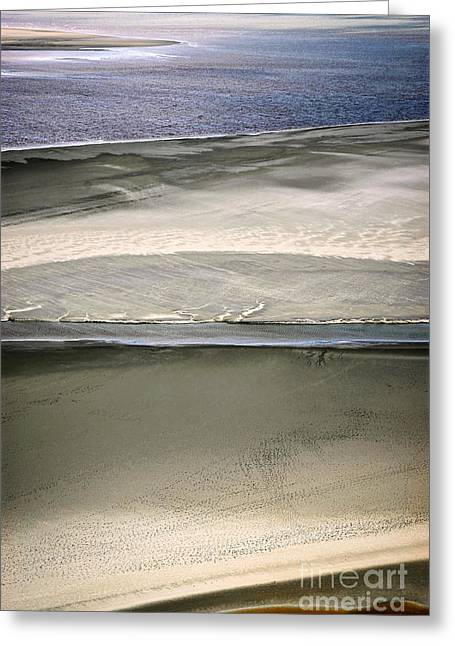 Sand Pattern Greeting Cards - Ocean at low tide Greeting Card by Elena Elisseeva