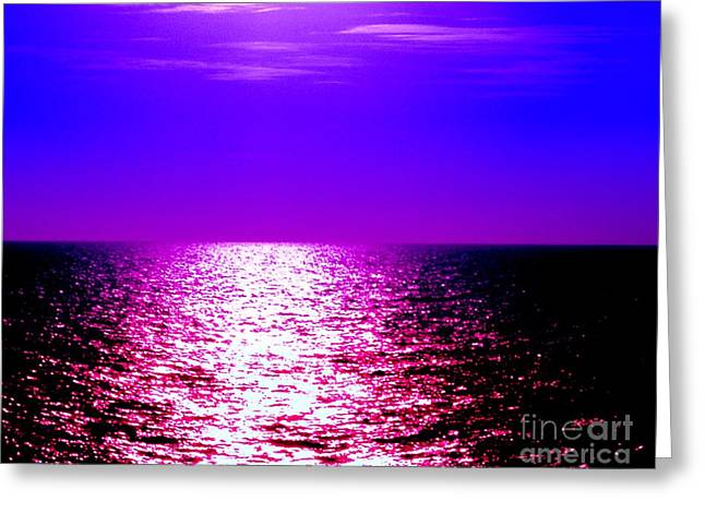 American Home Iii Greeting Cards - Ocean At Night Iii Greeting Card by Anita Lewis