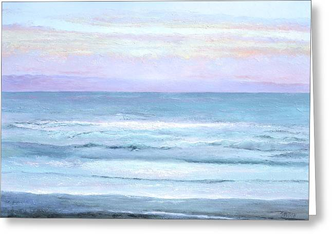 Beach Decor Posters Greeting Cards - Ocean at Sunset Greeting Card by Jan Matson