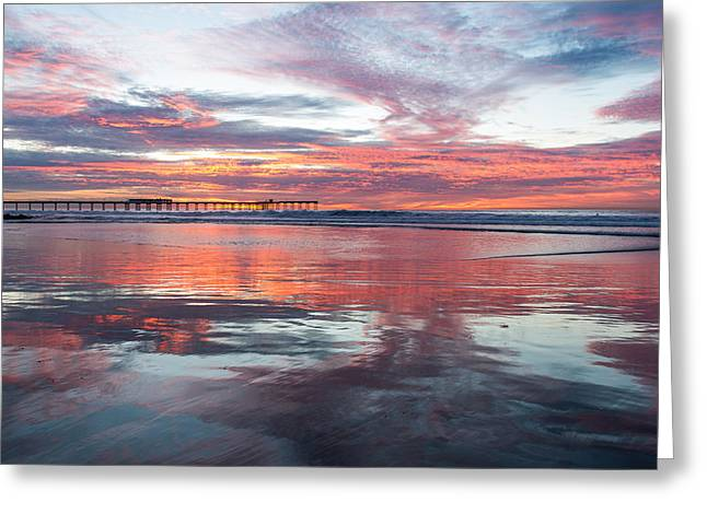California Beach Greeting Cards - Ocean Beach Winter Sunset Two Greeting Card by Josh Whalen