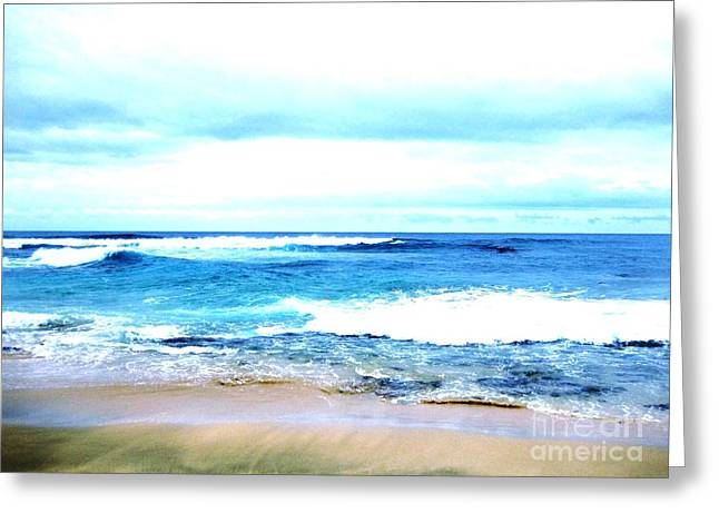 Oceanview Greeting Cards - Ocean Beautiful Greeting Card by Marsha Heiken