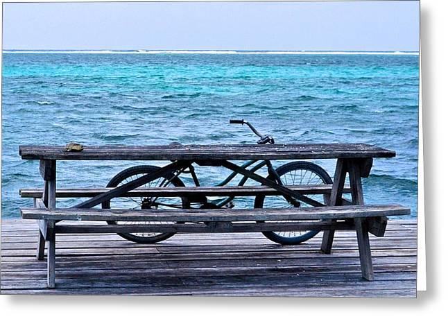Hallmark Greeting Cards - Ocean Bikes Greeting Card by Kristina Deane