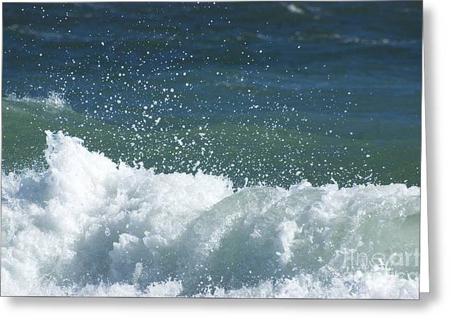 Hamptons Greeting Cards - Ocean Blue Surfing Waves - East Hampton Greeting Card by ArtyZen Studios - ArtyZen Home