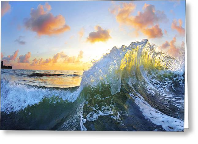 Ocean Art Photography Greeting Cards - Ocean Bouquet Greeting Card by Sean Davey
