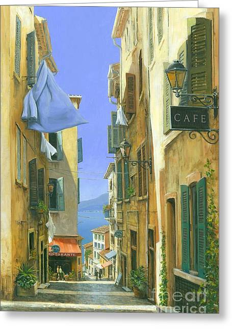 Roman Streets Greeting Cards - Ocean Breeze Greeting Card by Michael Swanson