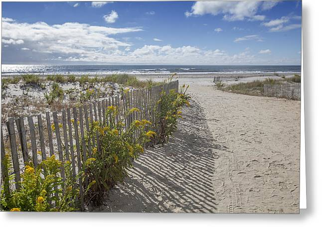 Jerseyshore Greeting Cards - Ocean City beach 2 Greeting Card by Al Hurley