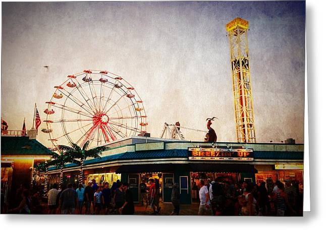 Cellphone Greeting Cards - Ocean City - Boardwalk  Greeting Card by Richard Reeve
