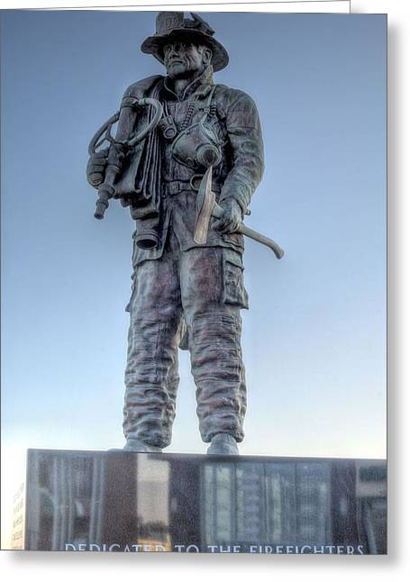 Ocean City Firefighter Memorial Greeting Card by JC Findley