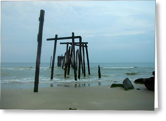 Atlantic Beaches Digital Art Greeting Cards - Ocean City New Jersey Greeting Card by Bill Cannon