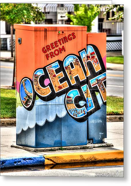 Tonemapping Greeting Cards - Ocean City Street Art Project Greeting Card by Joshua Zaring