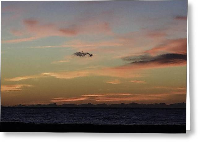 Para Surfing Greeting Cards - Ocean City Sunrise in Pink Greeting Card by Debra Bowers