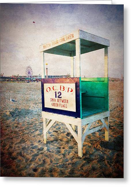 Cellphone Greeting Cards - Ocean City - Swim Between Flags Greeting Card by Richard Reeve