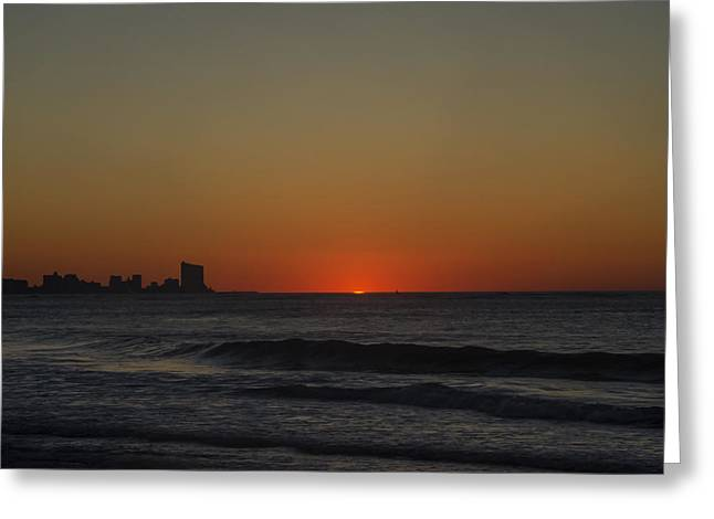 Surf City Greeting Cards - Ocean City Twilight Greeting Card by Bill Cannon