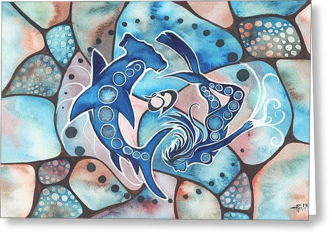 Scuba Greeting Cards - Ocean Defender Greeting Card by Tamara Phillips