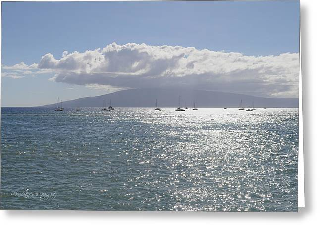 Lahaina Digital Greeting Cards - Ocean Diamonds Greeting Card by Paulette B Wright