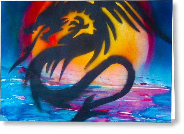 Dorsett Greeting Cards - Ocean dragon Greeting Card by William  Dorsett