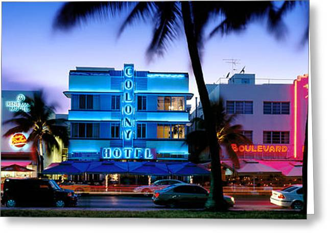 Illuminate Greeting Cards - Ocean Drive Greeting Card by Rod McLean