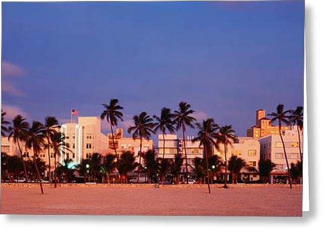 Store Fronts Greeting Cards - Ocean Drive South Beach Miami Beach Fl Greeting Card by Panoramic Images