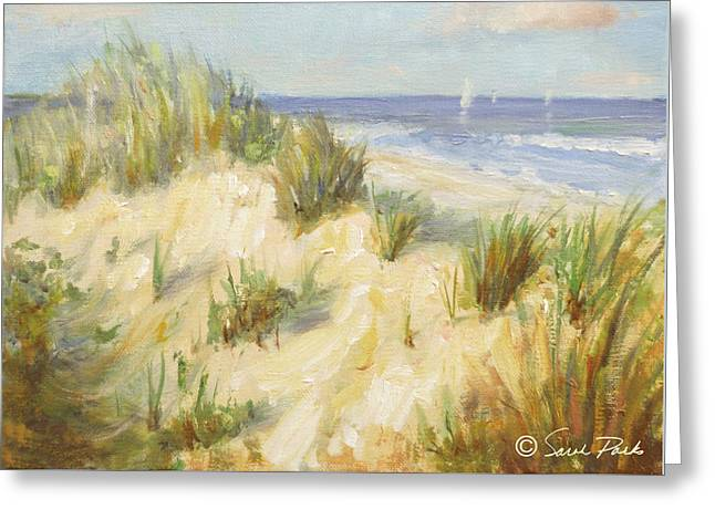 Office Space Greeting Cards - Ocean Dunes Greeting Card by Sarah Parks
