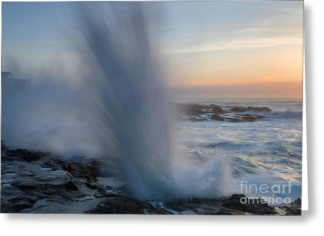 Ocean Explosion Greeting Card by Mike  Dawson