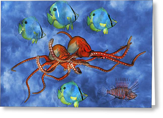 Ocean Fauna Series I Nautical Accord Greeting Card by Betsy A  Cutler