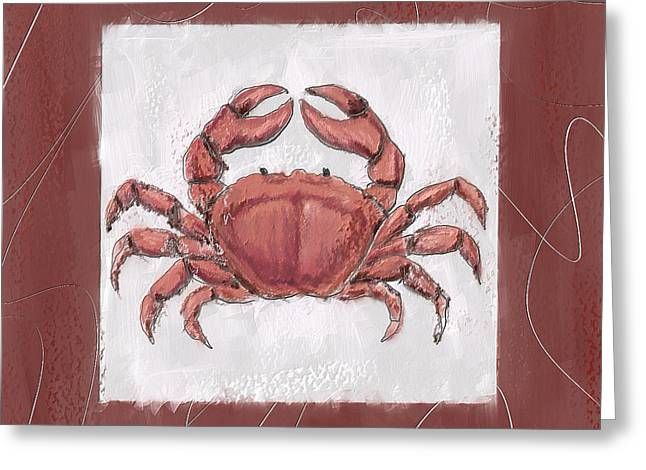 Beach Decor Paintings Greeting Cards - Ocean Finest-Marsala Pantone 18-1438 Greeting Card by Lourry Legarde