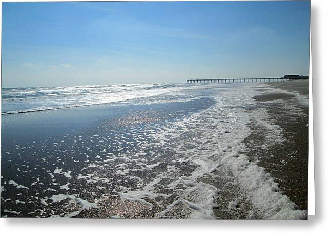 Ocean Foam Greeting Card by Silvie Kendall