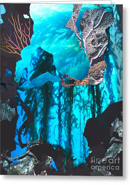 Snorkel Greeting Cards - Ocean Fragments Greeting Card by Ursula Freer