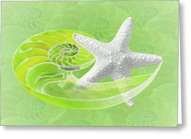 Star Fish Greeting Cards - Ocean Fresh Greeting Card by Gill Billington