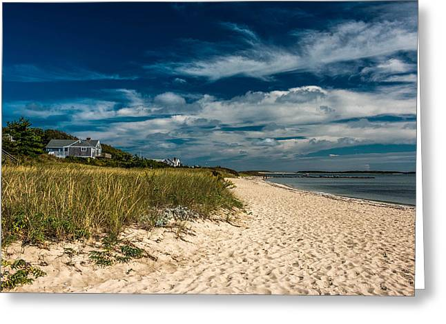 Sandy Beaches Pyrography Greeting Cards - Ocean Front Home Greeting Card by Tim Casara