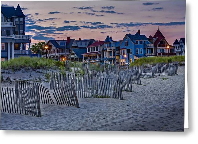 Asbury Park Jersey Shore Architecture Greeting Cards - Ocean Grove Asbury Park NJ Greeting Card by Susan Candelario