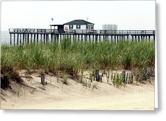 Ocean Photography Greeting Cards - Ocean Grove Fishing Pier Greeting Card by John Rizzuto