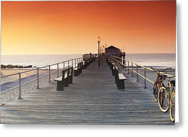 Sean Davey Greeting Cards - Ocean Grove Jetty in NJ Greeting Card by Sean Davey