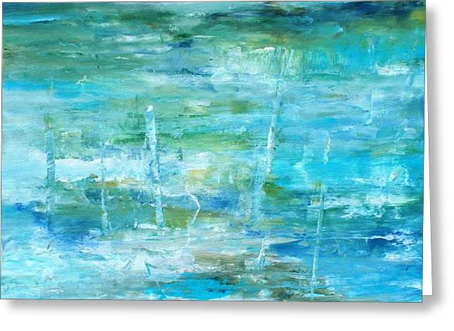 Pallet Knife Greeting Cards - Ocean I Greeting Card by Tia Marie McDermid