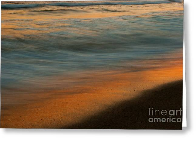 Ocean Wave Impressions Greeting Card by John F Tsumas