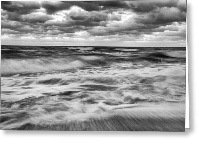 Ocean In Flux Greeting Card by Jon Glaser