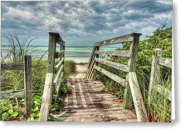 Bahia Honda State Park Greeting Cards - Ocean Invitation Greeting Card by Gary Oliver