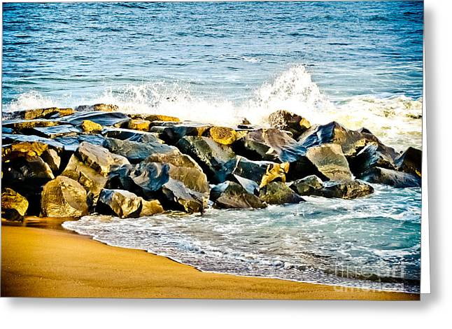 Ocean Jetty Greeting Card by Colleen Kammerer