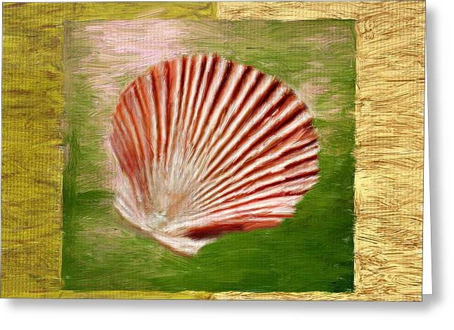 Seashell Digital Art Greeting Cards - Ocean Life Greeting Card by Lourry Legarde