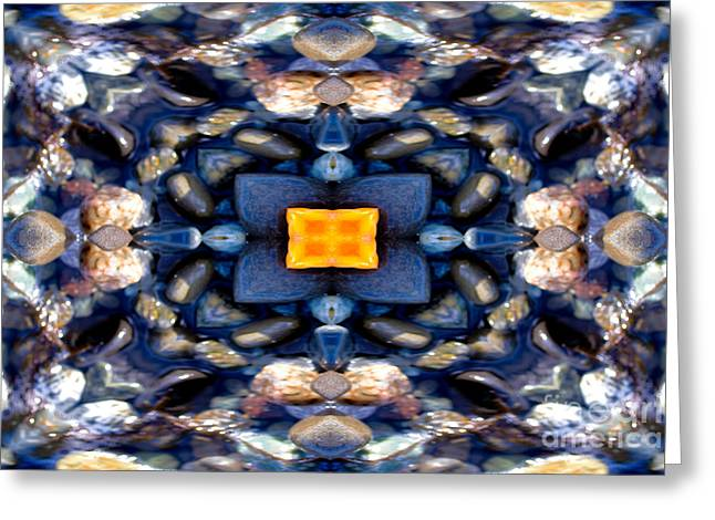 Focal Point Greeting Cards - Ocean Life Mandala Yantra Greeting Card by Marie Jamieson