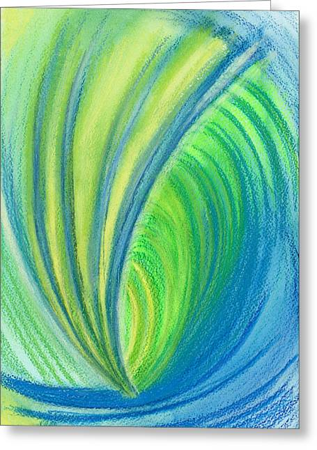 Popular Drawings Greeting Cards - Ocean of Dark and Light Greeting Card by Kelly K H B