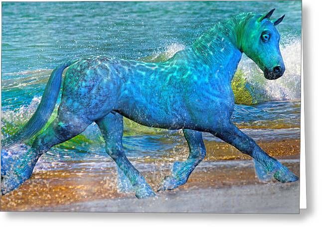 Trot Greeting Cards - Ocean of One I of II Greeting Card by Betsy C  Knapp