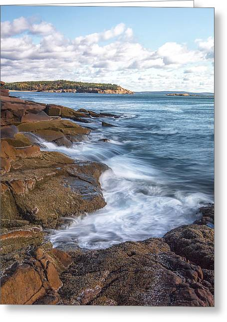 Color Colorful Greeting Cards - Ocean on the Rocks Greeting Card by Jon Glaser