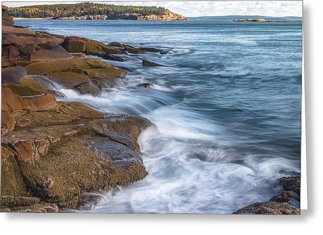 Ocean on the Rocks Greeting Card by Jon Glaser