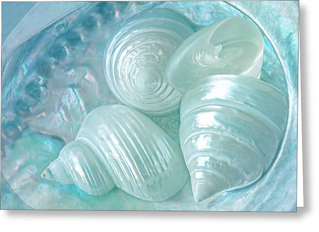 Lustrous Greeting Cards - Ocean Pearl Treasure Greeting Card by Gill Billington