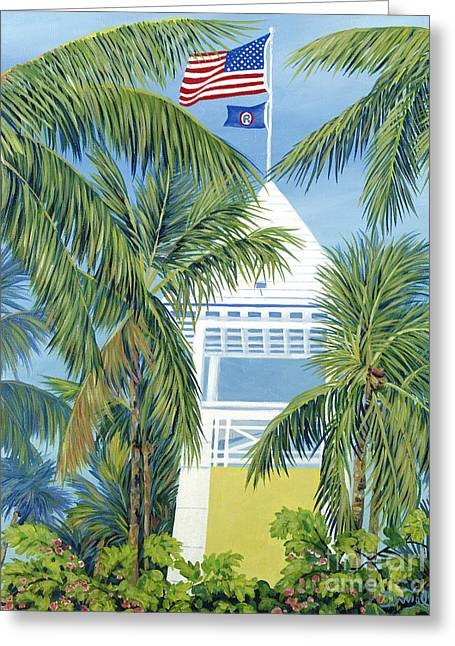 Danielle Perry Paintings Greeting Cards - Ocean Reef Club Greeting Card by Danielle  Perry