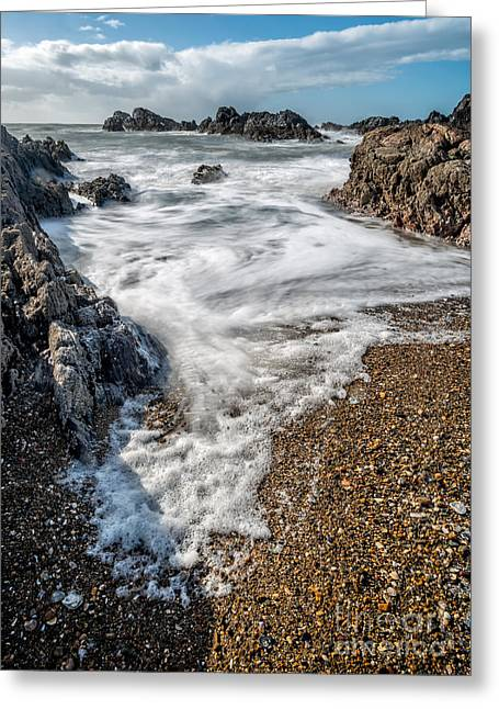 North Sea Greeting Cards - Ocean Rocks Greeting Card by Adrian Evans