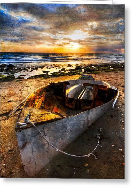 Sailboat Art Greeting Cards - Ocean Salty Greeting Card by Debra and Dave Vanderlaan