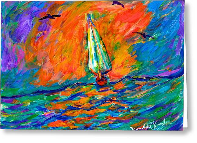 Impressionist Greeting Cards - Ocean Shift Greeting Card by Kendall Kessler